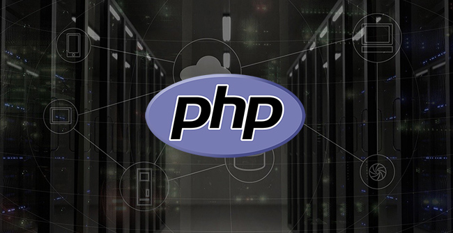 php hosting services represented by php logo on servers